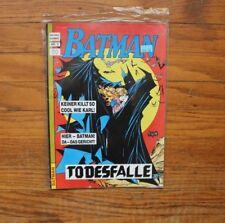 BATMAN #5 TODESFALLE GERMAN Hethke Comic Late 80's Vintage IMPORT VERY RARE