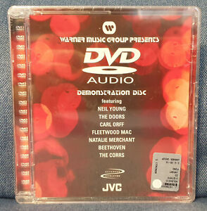 "DVD-Audio dimostrativo JVC (con artisti ""Warner Music Group"") nuovo, sigillato"