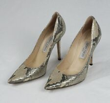 Jimmy Choo Snakeskin Leather High Heels Shoes Size 39