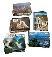 Postcards Lot of 60 Vintage Random Used & Unused 1910-1980 Chrome Linen US Int'l