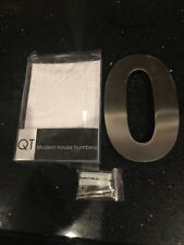 QT Modern EXTRA LARGE House Number - 6 Inch - (Number 0 Zero)