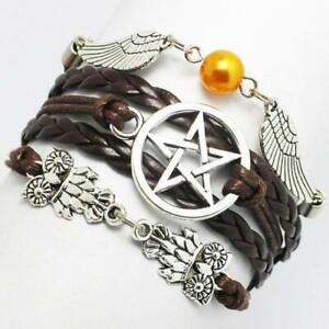 Angel Wings Owls Pagan & Wiccan Star 5-point Celtic Star Knot Bracelet
