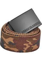 URBAN CLASSICS Cinta Cintura uomo in tela Long Canvas Belt 140cm TB2172 Woodcamo