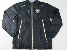 New Reebok Pittsburgh Penguins NHL Pro Stock Hockey Coach Player Rink Jacket S