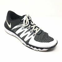 Men's Nike Free 5.0 TR Training Shoes Sneakers Size 12 Black White Athletic W4
