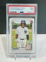 PSA 9 JASSON DOMINGUEZ 2020 Bowman 1st Edition Yankees Rookie Card RC MINT