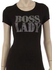 BOSS LADY Rhinestone Iron on Shirt