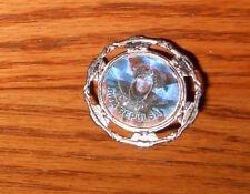 "Rita Repulsa Pin Charm Silver Tone Holographic 1 ¼ "" Power Rangers"