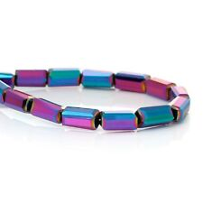 15 x 7mm Glass Ab Rectangle Multicolor Loose  Beads