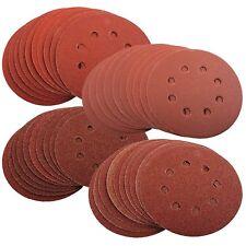 100pcs 8 Hole 125mm Sanding Discs 40 60 80 120 240G Orbital Sander Pad - EETools