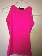 Vintage Alkire 1980's Men's Shiny Glossy Spandex Hot Bright Pink Tank Top