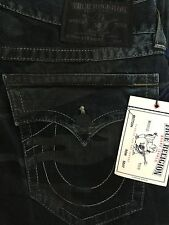 NWT TRUE RELIGION Sz36 STRAIGHT W/FLAPS NATURAL JEANS IN CZK RESILNT CAMO $268.