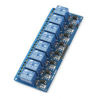 MCU Opto-isolator 8-Channel Power Relay Module Expansion Board DC 5V Free ship