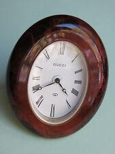 Vintage GUCCI 8 Days Wind Up Desk Alarm Clock, Swiss Made