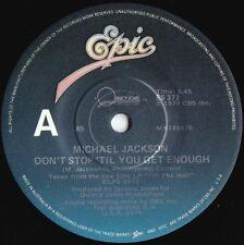 Michael Jackson ORIG OZ 45 Don't stop til you get enough VG+ '79 Epic ES372 R&B