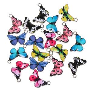 Necklace Bracelet Jewelry Making Enamel Pendants Butterfly Charms Cute Animal