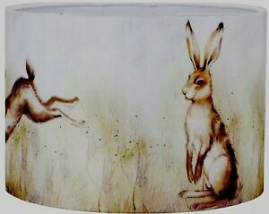 New HQ Leaping Hare Rabbits Drum Lampshade Table Lamp Shade Ceiling Light
