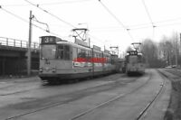 PHOTO  NETHERLANDS TRAM 1986 FLEVOPARK TRAM NO 744 ON ROUTE 3 AND 728 ON ROUTE 1