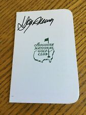 Gay Brewer autographed Masters golf scorecard