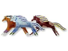 Zarah Zarlite Wild Mustangs Pin Enamel Sterling Silver Plated