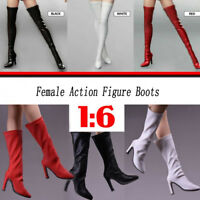 """1/6 Scale Female Shoes High Heel Thigh Boots/ Mid Boots for 12"""" Figure Hot Toys"""
