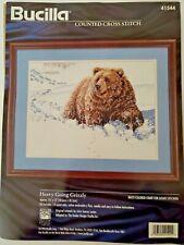 New ListingBucilla Cross Stitch Bear Winter Snow #41544 Heavy Going Grizzly