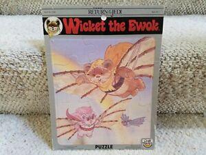 """Vintage Star Wars """"Wicket The Ewok"""" 1983 Craft Master Children's Frame Puzzle!"""