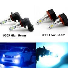 4x 9005 & H11 CSP LED High Low Beam Headlight Kit 8000K 55W 8000LM Plug And Play