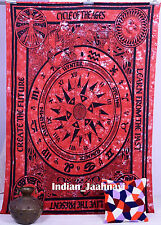 Indian Cotton Handmade Queen Size Wall Hanging Tapestry Throw Bedspread Blanket