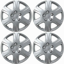 "4 Pc of 15"" Inch Silver Hub Caps Full Lug Skin Rim Cover for OEM Steel Wheel"
