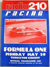 THRUXTON BARC RADIO 210 RACING 29 maggio 1978 sport automobilistico PROGRAMMA UFFICIALE