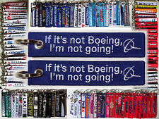 "Keyring ""If it's not Boeing, I'm not going""! Boeing Company & fans slogan"