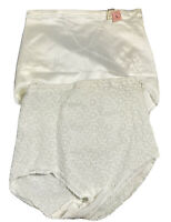 Lot of 2 Vintage Renette High Waisted Panty Tummy Extra Firm Control White Large