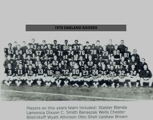 1970 OAKLAND RAIDERS 8X10 TEAM PHOTO FOOTBALL PICTURE NFL AFC CHAMPS