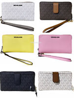 Michael Kors Jet Set Travel Medium Zip Around Phone Holder Wallet Wristlet