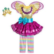 FANCY NANCY Costume Dress Fairy Wings Tiara Legging Child Small 5 6 Disney Store