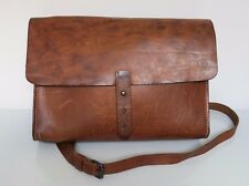 MENS Brown LEATHER Cross Body SATCHEL Messenger Bag ALL SAINTS Spitalfields