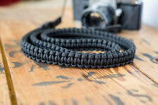 Braided Camera Strap - Black - apmots - Paracord Shoulder Sling Mirrorless DSLR