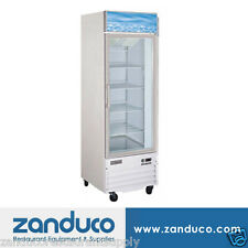 "Zanduco 26"" 1-Door Refrigerated Glass Cooler Commercial Refrigerator 14 Cu Ft"