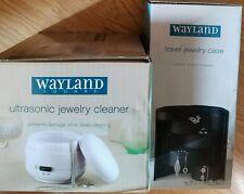 NIB Wayland Square Travel Jewelry Case Black & Wayland Ultrasonic Jewelry Cleane