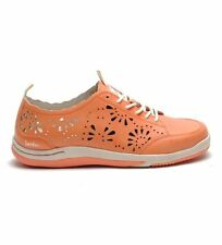 Jambu Bloom Biodegradable Womens Coral Perforated Fashion Sneaker 6 Leather EUC