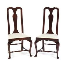 Pair Of American Queen Anne Side Chairs. Lot 193