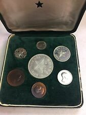 1958 Ghana 7 Coin Proof Set w/ Silver 10 Shilling Coin
