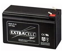 BATTERIA RICARICABILE AL PIOMBO 12V 9Ah T2 LUN15xALT9xPR6cm EXTRACELL DW12-9