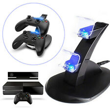 Microsoft X BOX ONE Controller LED Dual USB Charger Stand Charging Dock Station