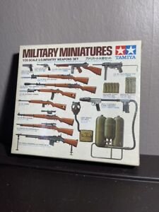 Vintage New Tamiya 1/35 Scale Military Miniatures US Infantry Weapons Set