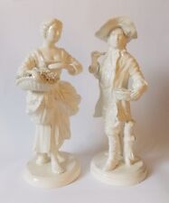 Vintage Mid Century Pair of Rococo Porcelain Figurines Girl with flowers & Boy