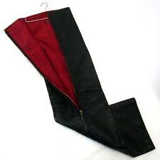 100% Authentic HERMES Leather Black Hanger Tie Cover Vintage (a27)