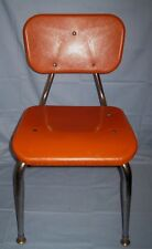 Vtg Scholar Craft Southeastern Metal ORANGE Childs Chair Metal/Plastic/Masonite!