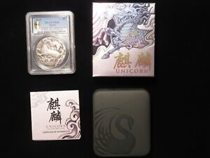 2018 Tuvalu Unicorn 2oz. Silver coin Perth Mint PR68 PCGS.